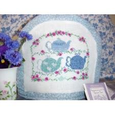 Teapots in Blue