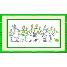 Merklap konijnen - Frise Lapins