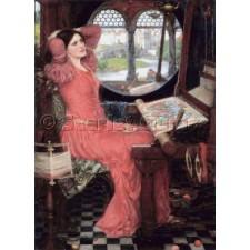 """I am Half-Sick of Shadows,""said The Lady of Shalott - John William Waterhouse"