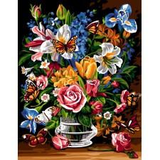 Bloemenvaas met vlinders - Bouquet papillon