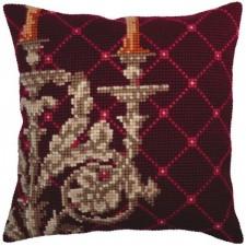 Cushion cross stitch kit Candlestick - Collection d'Art