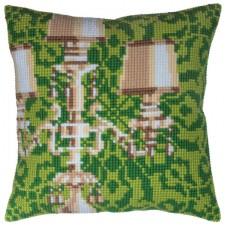 Cushion cross stitch kit Candelabra - Collection d'Art