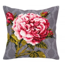 Cushion cross stitch kit Tender Rose - Collection d'Art