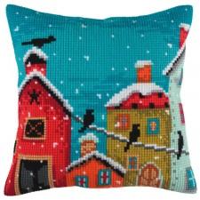 Cushion cross stitch kit Winter Morning - Collection d'Art