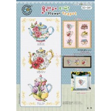 Borduurpakket Flower Teapot